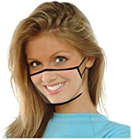 3 pezzi di protezione per il viso trasparente con aperta, mezza per il viso in plastica trasparente per il viso protezione elastica comoda per la bocca, protezione per il viso di sicurezza #4
