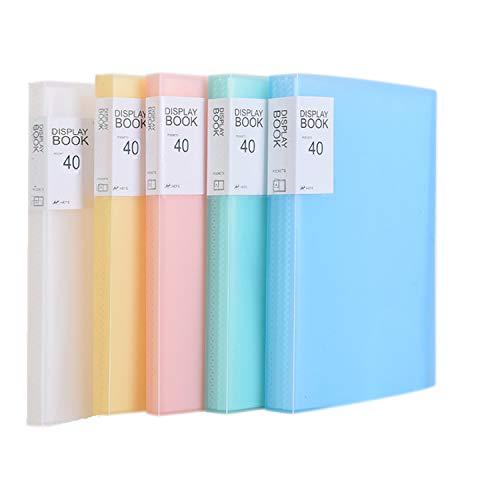 TUKA-i-AKUT [5x] Reliure Protège-Documents A4 pour 80 feuilles, 40 Pochettes transparentes, Affichage livre Présentation pour fichier. Couverture translucide, Ensemble de 5 en 5 couleurs, TKD8018-5x
