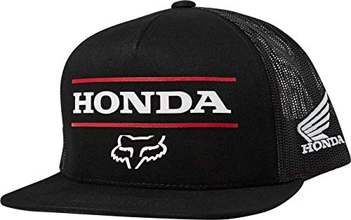 Fox Racing Mens Honda Snapback Hat, Black, One Size