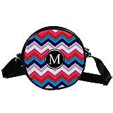 COOSUN - Bolso bandolera con diseño de letra M y tiras redondas, para niños y mujeres