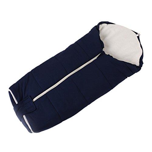 Gigoteuse Été Bébé 2.5 Tog, Sac de couchage pour Poussette Chancelière Couverture Emmailloter 0-24 mois, Bleu Foncé