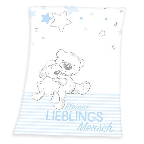 Herding Baby Best Decke, Polyester, Lieblingsmensch (Blau), Standardausführung