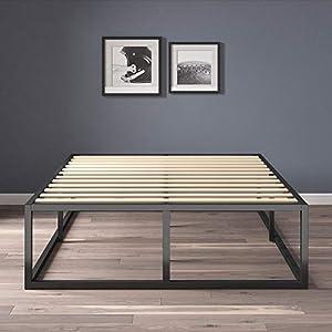 Zinus Modern Studio 14 Inch Platforma Bed Frame / Mattress Foundation with Wood Slat Support, Full