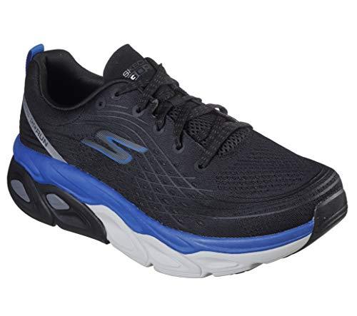 Skechers Men's Max Cushioning Ultimate-Stability Performance Walking & Running Shoe Sneaker, Black/Blue, 8 4E US