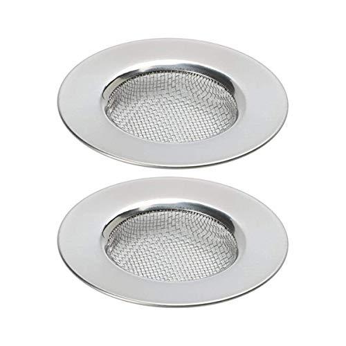 Filtro de drenaje, 2 piezas de malla fina de acero inoxidable para rejillas de cocina y baños.