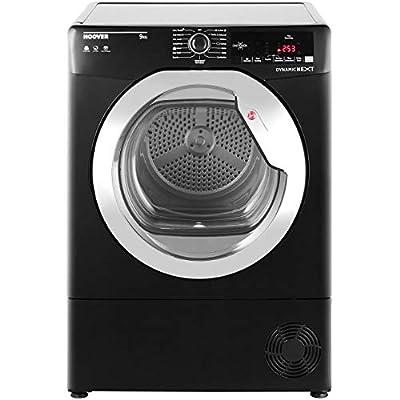 Hoover Dynamic Next Advance DXC9TCGB 9Kg Condenser Tumble Dryer - Black / Chrome