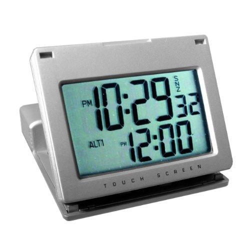 Natico Clock, Alarm, Touch Panel Silver (10-166)