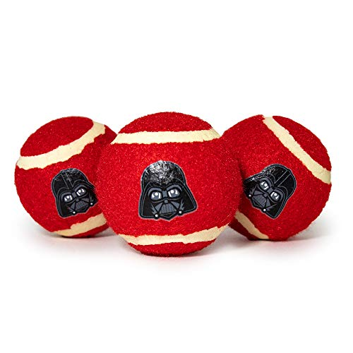 Buckle-Down Dog Toy, Tennis Balls Star Wars Darth Vader Face Red Black
