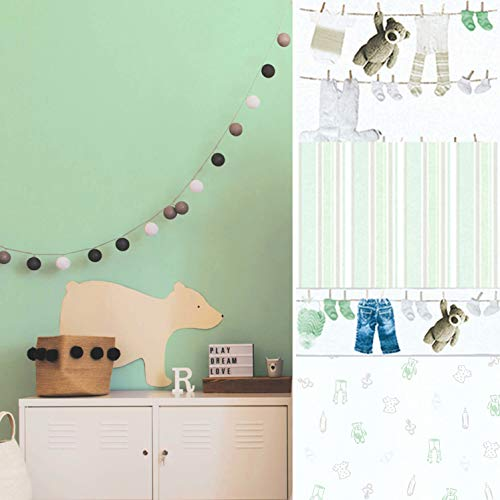 #WUNDERLAND umweltfreundliche 3D Bordüre Teddy Bär PVC-freie Kinder Tapeten Kinderzimmer Wandbild Tapete Babyzimmer Fototapete Made in Germany