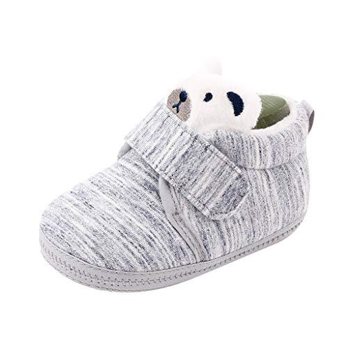 Bébé chaud Coton Chaussures Tout-Petits 0-15mois, BZLine Bambin Peluche Shoes Hiver chaud Raquettes Semelle Souple Chaussons de Neige Épaissir Soulier