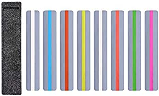 Reading Guide Highlight Strips, Window Reading Ruler, Colored Bookmarks Dyslexia Tools for Kids - 8 Pack
