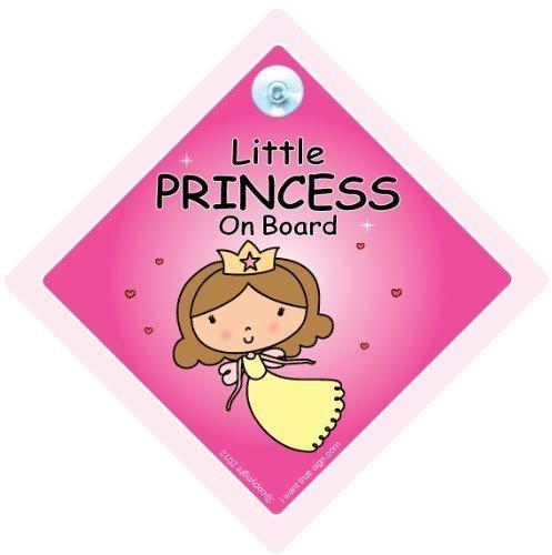 BABY iwantthatsign.com Little Princess An Bord, Bord Autoschild, Prinzessin Auto Schild, Baby on Board Zeichen, A, Stoßstange Aufkleber Baby, Aufkleber, Baby-schild, Zeichen