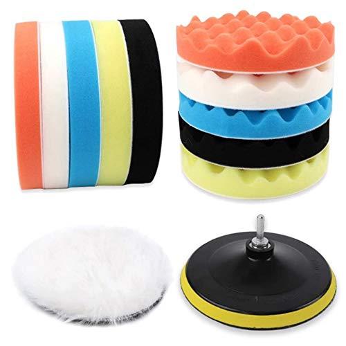 NgMik Polishing Pad Kit 7 Inch Sponge Pad Polishing Waxing Sponge Wheel Wool Polishing Buffer Pad M14 Polishing Set Buffing Pads (Color : A, Size : One size)