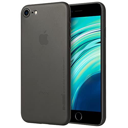 iPhone SE/iPhone 8/ iPhone7 ケース 0.3㎜の 最薄型 最軽量 memumi PP Case アイフォン8 保護カバー 指紋防止 手触り抜群 人気ケース·カバー (クリアブラック)