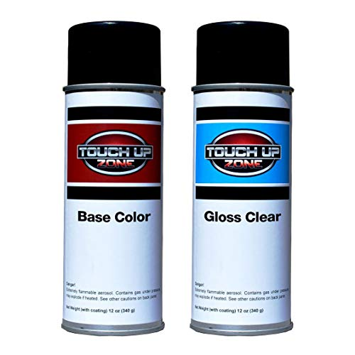 Touch Up Zone Aerosol Paint and Clear - Replacement for Chevrolet (GM) Pull Me Over Red (Bright Red) Code G7C