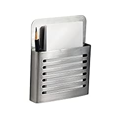 InterDesign Magnetic Memo Center Brushed Stainless Steel
