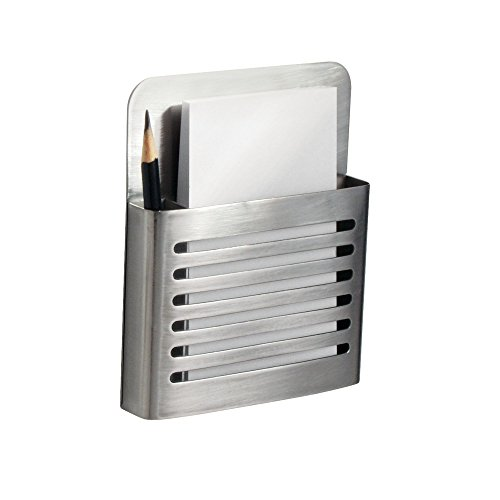 InterDesign Magnetic Memo Center, Brushed Stainless Steel