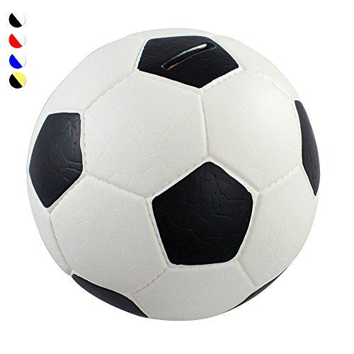 HMF 4790-01 Tirelire,Ballon de football, en similcuir, diamètre de 15 cm, de couleur noire blanche