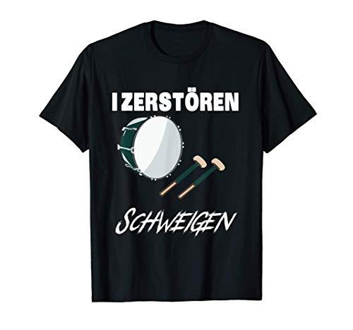 Lustiges Basstrommel-Hemd - Ich zerstöre die Stille - Neujah T-Shirt