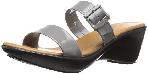 Athena Alexander Women's Darlling Wedge Sandal, Grey Patent, 10 US/10 M US