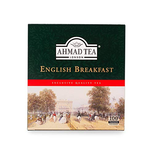 5x Ahmad Tea - English Breakfast - 100 tagged teabags je 200gr