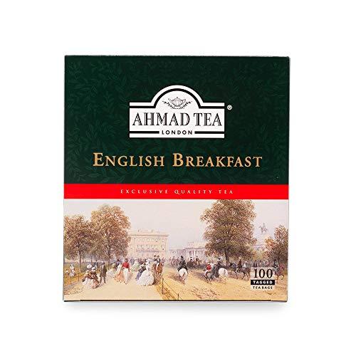 Ahmad Tea English Breakfast Schwarzer Tee 100 Teebeutel mit Band/Tagged, 200 g