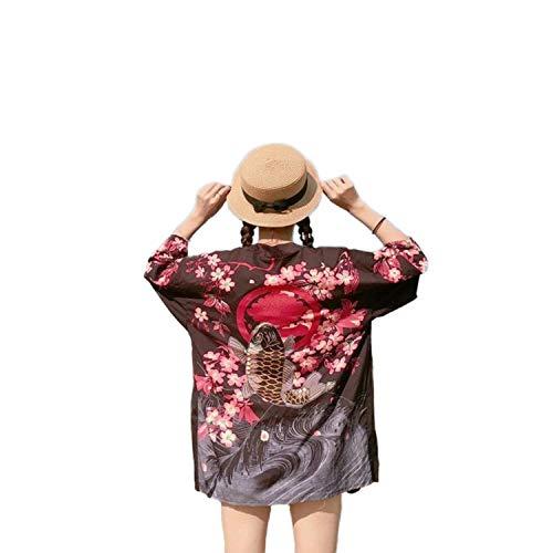 who-care Kimonos Damen 2020 Japanische Kimono Cardigan Cosplay Shirt Bluse für...