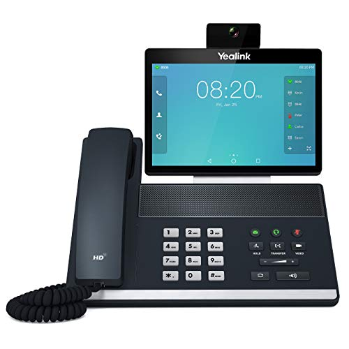 Yealink VP59 Smart Video IP Phone 16 VoIP Accounts 8Inch Adjustable Color Touch Screen Dual USB 20 80211ac WiFi DualPort Gigabit Ethernet 8023af PoE Power Adapter Not Included SIPVP59