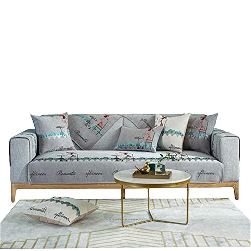 Sofá Antideslizante de Chenilla de Lujo Ligero,Funda de sofá para Mascotas,Funda de sofá,Funda de sofá,Fundas de sofá seccionales de Chenilla,Gris,110 * 160 cm