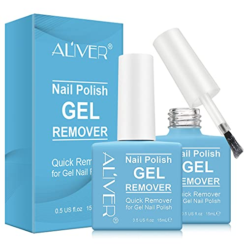 2 Pcs Gel Nail Polish Remover ,Quickly Remove Gel Polish,No Need To Sharpen Tools,Professional Without Irritation, No Nail Damage,Only Takes 3-5 Minutes