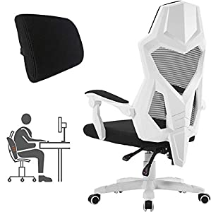 Ergonomic Recliner: 90-135 degree inclination design with adjustable height from 16'' to 20''. Design for all types of people, apply to work, gaming and rest Comprehensive Support: High-density foam Seat, Lumbar Support and Padded Headrest provide su...