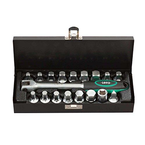 Ölablassschrauben Set 17tlg. für Ölablass-Schrauben inkl. Griff 3/8