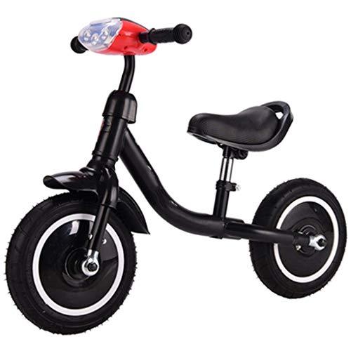 Nologo Kinder Balanced Fahrräder kein Pedal-Fahrräder 2-6 Jahre alt Aluminiumlegierung Stoßdämpfende Scooter mit Musik-Licht