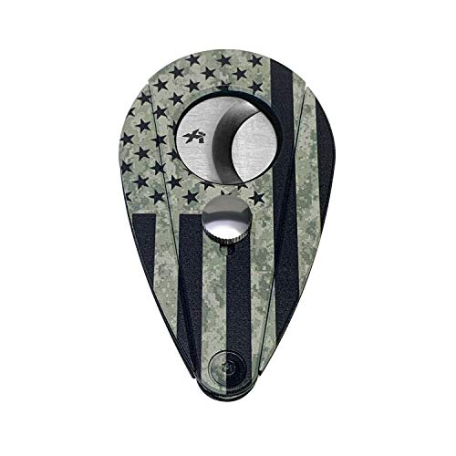 Xikar Xi2 Cigar Cutter Hero Series, Cuts Up to 60 Ring-Gauge Cigars, Spring-Loaded Double Guillotine Action, 440 Stainless Steel Blades with Rockwell C Rating of 57, Military