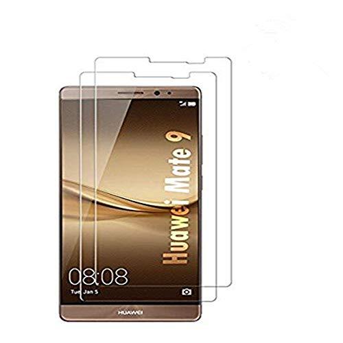Copmob Huawei Mate 9 Panzerglasfolie,Huawei Mate 9 Panzerglas,Huawei Mate 9 Schutzfolie,Panzerglas [2 Stück] Ultra-klar 9H Festigkeit,Anti-Öl,Kratzer & Fingerabdrücke Blasenfrei, 3D Touch - Transparent