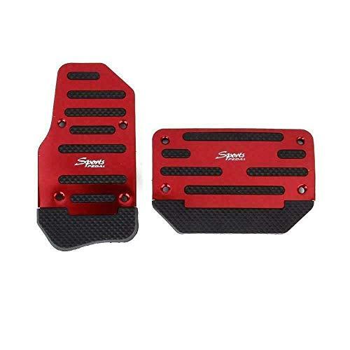 Copri pedaliera universale per auto Racing Sport antiscivolo Copri pedali freno a gas per auto automatico (rosso)