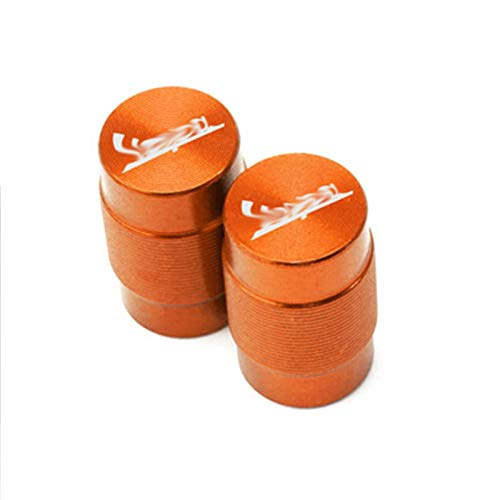 JINBINB / Ajuste para Vespa GTS LT LX Sprint 150 300 250 125 200 200 Motocicleta CNC Aluminio CNC CNC Válvula de neumático Tapas de Tallo Cubiertas herméticas (Color : Orange)