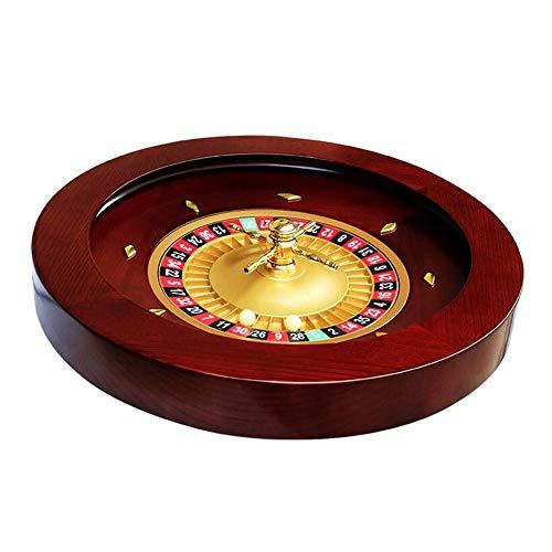 CLX 18 Zoll Kasino Klasse Deluxe Holz Roulette Rad Set, Fun Freizeit Unterhaltung Roulette Tische Spiel Turntable Für Erwachsene Großes Digitales Zifferblatt
