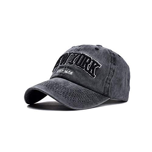 Yutdeng Gorra de béisbol Bordado New York para Hombre Ajustable de algodón Classic Gorra Vintage Verano Sombreros de Gorra Deportes de Sol Baseball Cap Mujer