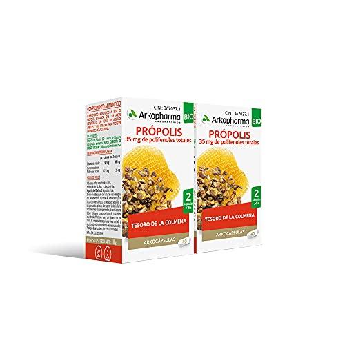 Arkopharma Arkocápsulas Própolis BIO 40 Cápsulas Pack x2 |Mejora la respiración | Estimula las Defensas | Para el Sistema Inmune y las Vías Respiratorias