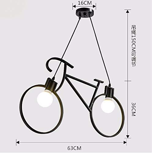 Hai Ying hanglamp vintage retro fietskleding ijzer industrieel creatief Nordic zwart 63 x 36 cm decoratie restaurant
