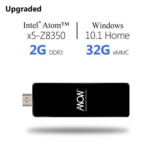 AWOW PC Stick Intel Mini Desktop Computer 32GB ROM 2GB RAM - Including Windows 10 Intel Atom Quad Core Wifi Wlan Bluetooth 4.0 HDMI