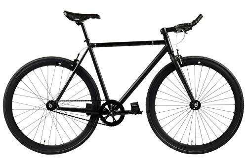 FabricBike - Original Collection, Hi-Ten Stahl Schwarz, Fahrrad Fixed Gear, Single Speed, Urban Commuter, 3 Farben und 3 Größen, 10 Kg (Fully Matte Black, M-53cm)