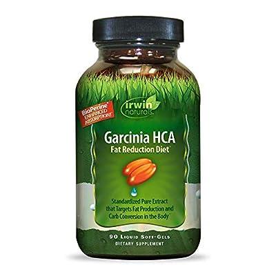 Irwin Natuals Garcinia HCA Fat Reduction Diet (Garcinia Cambogia) - Enhanced Absorption Standardized Hydroxycitric Acid - Premium Weight Management Support & Carb Conversion - 90 Liquid Softgels