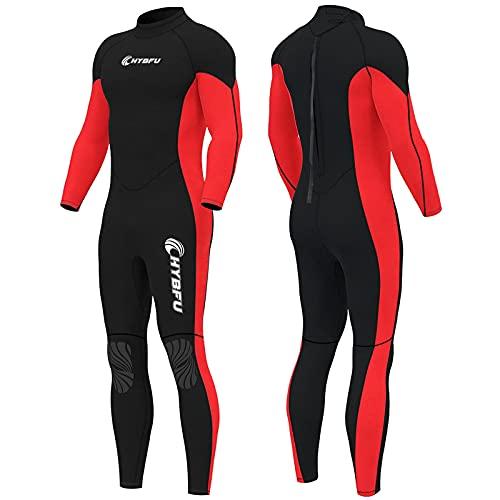 CHYBFU - Traje de neopreno para hombre, 3 mm, tela de nailon de silicona, trajes de buceo, trajes húmedos para hombre, trajes de agua fría, surf, varios tamaños para buceo, surf, esnórquel, kayak, deportes acuáticos (M)
