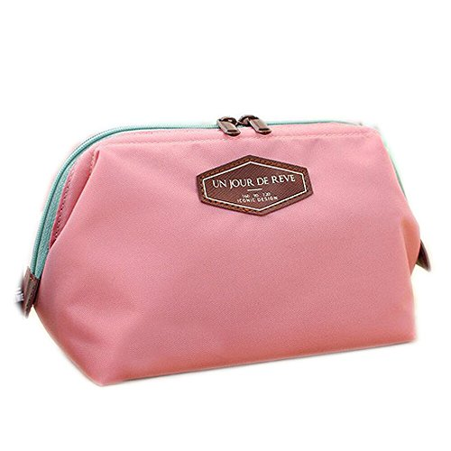 SAMGU Fashion Sac de Toilette Voyage Make Up cosmétiques Sac Pochette Bourse d'embrayage Sac à Main Couleur Pink