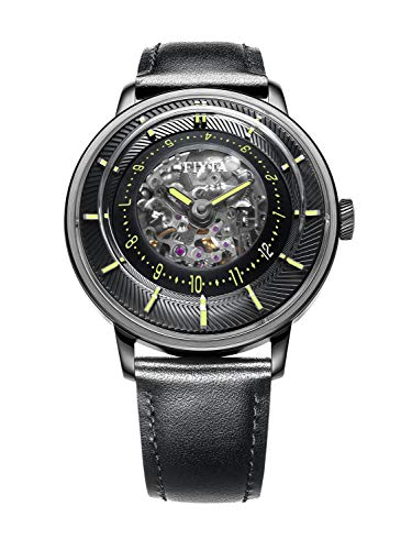 Fiyta 3D-TIME Automatic Black Dial Mens Watch WGA868002.BBB