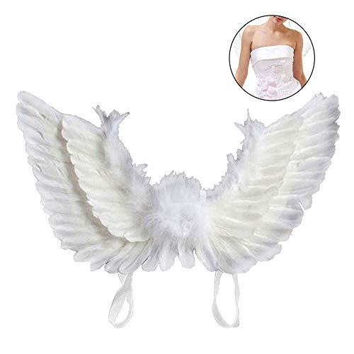 JTWEB Engelsflügel Kostüm Erwachsene Engel Fee Flügel Kostüm für Weinachten Halloween Party Karneval Dekoration Cosplay (Weiß)