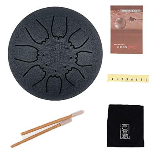 EXUVIATE Mini Steel Tongue Drum 8 Tono 7 Pulgadas Tambores