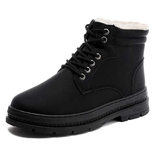 Qianliuk Männer Winterstiefel Warme wasserdichte Stiefel Schuhe für Männer Knöchel Schnee Boot